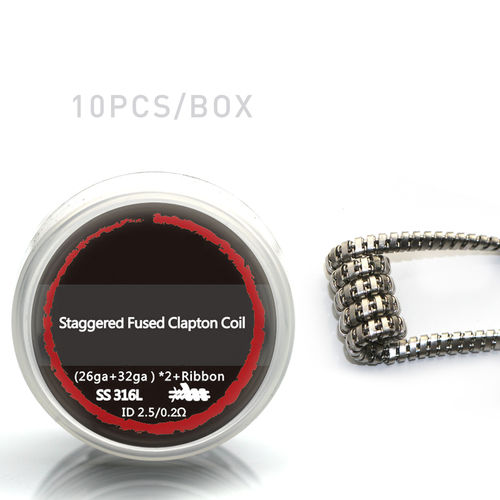 Staggered Fused Clapton Wicklungen